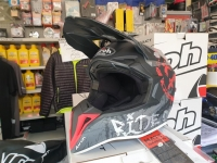 casco cross airoh wraap smile red matt