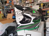 casco cross airoh wraap mood GREEN MATT