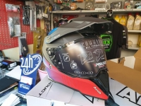 casco fibra airoh commander progress blue red matt