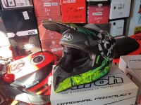casco cross airoh wraap smile yellow matt