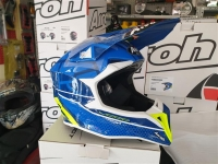 casco cross airoh wraap mood blue gloss