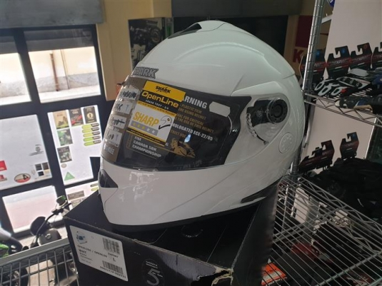 casco modulare shark openline white