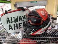 casco integrale ls2 challenger ff327 red FIBRA