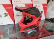 casco cross ls2 mx437 fast evo roar matt red