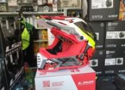 casco cross ls2 mx437 fast evo crusher black red